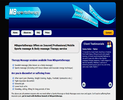 MBsportstherapy Website